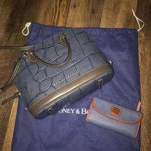 Dooney and Bourke Croc Deana Bag and Wallet